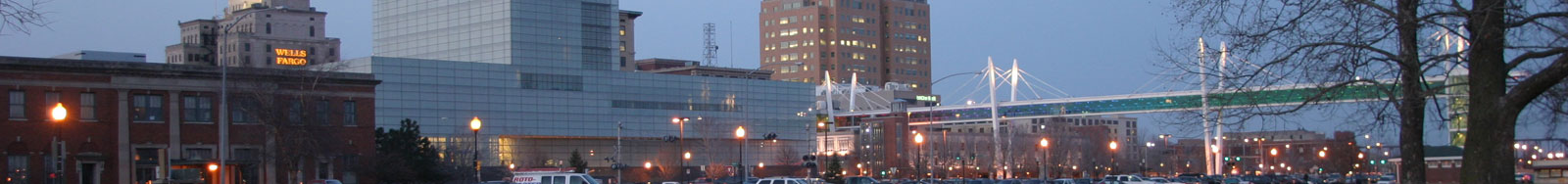Panoramic shot of downtown Davenport, IA